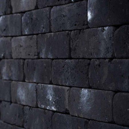 Διακοσμητικό Τουβλάκι Μαύρο - Τεχνητό Τούβλο - GRECOSTONE 9194b