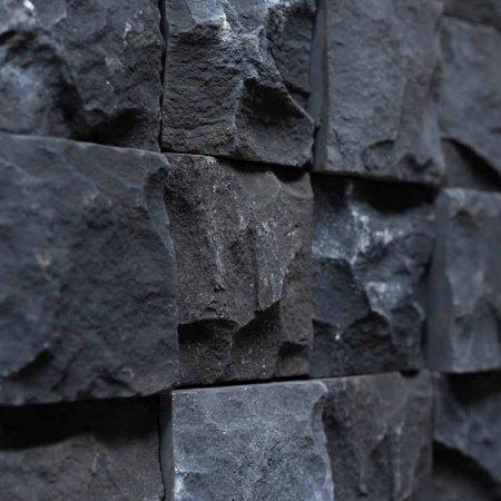 Κύβος Μαύρος - Τεχνητή Πέτρα για Επένδυση Εξωτερικού Τοίχου GRECOSTONE 9237
